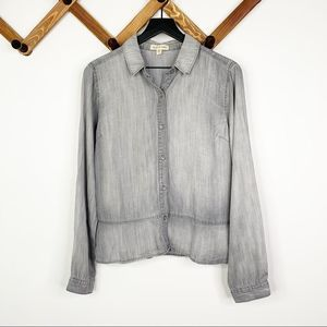CLOTH&STONE washed grey button down shirt✨S